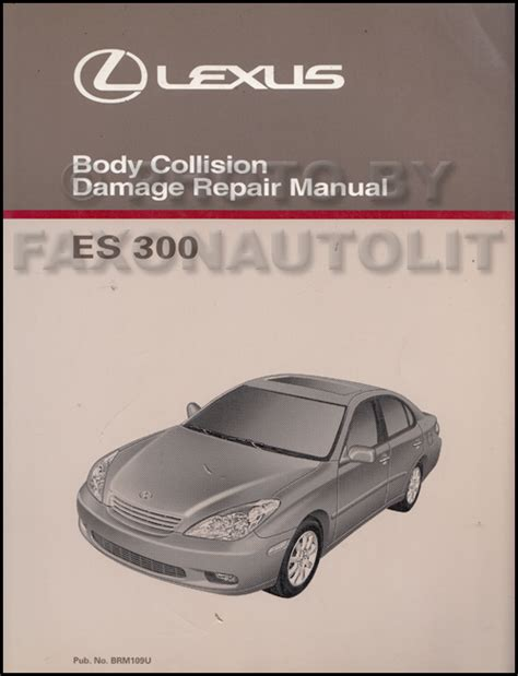 old car repair manuals 2010 lexus es free book repair manuals 2002 2003 lexus es 300 body collision repair shop manual