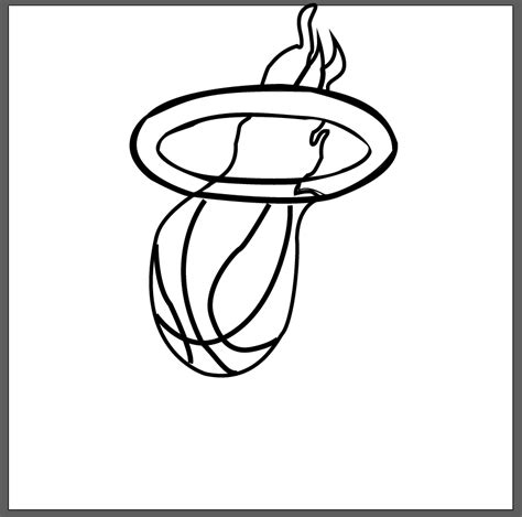 miami heat symbol pictures coloring home
