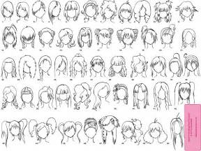 Various female anime manga hairstyles by elythe on deviantart