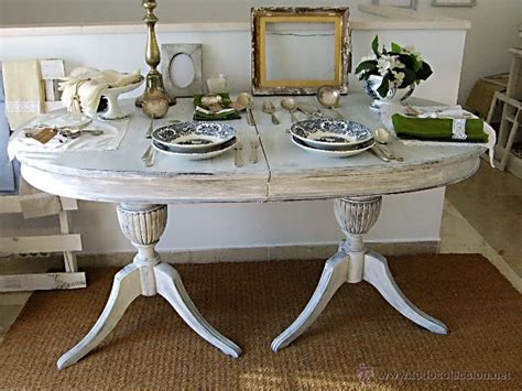mesa de comedor de caoba anos  decapada foto