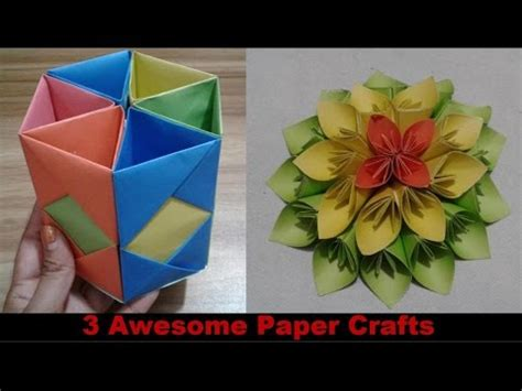 awesome paper crafts top 3 awesome paper crafts at home paper crafts for