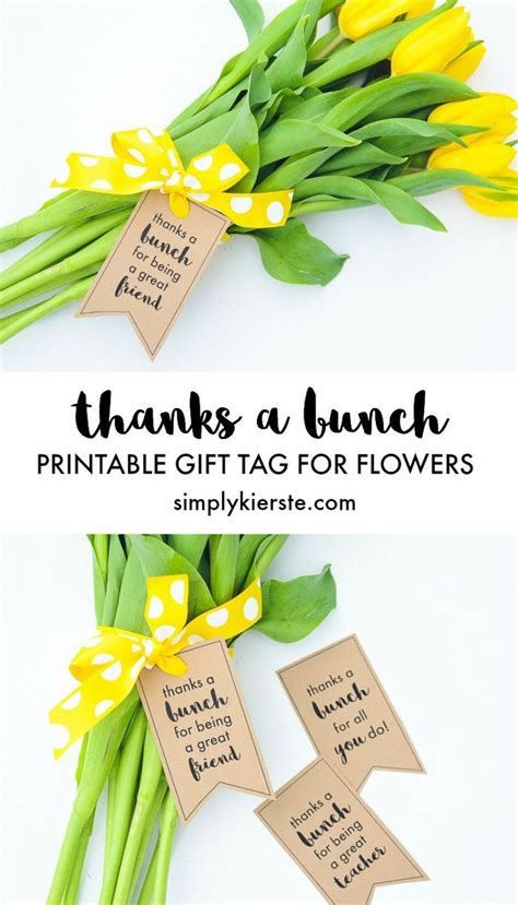 bunch printable gift tags  flowers teaching