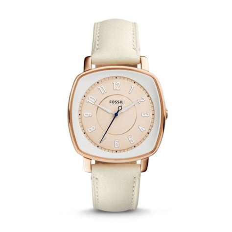Fossil Idelist idealist white leather fossil