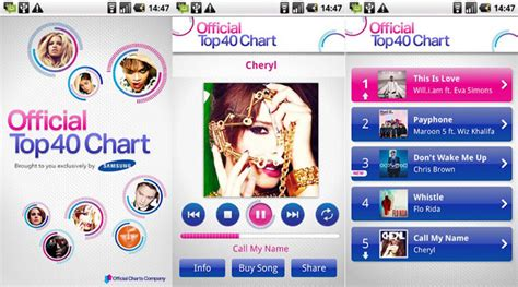 samsung official top 40 chart app dragons and dust samsung launches the official top 40 chart app in play intomobile