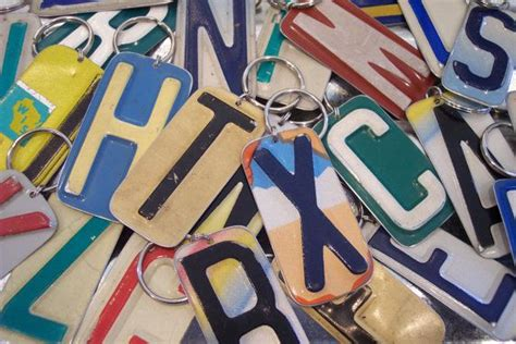 what to do with license plates when selling a car in illinois keychain pick your initial handmade key chain upcycled