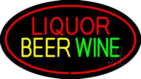 liquor signs liquor beer wine oval red neon sign liquor neon signs