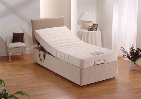 ft single electric adjustable chenille bed memory foam