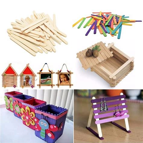 Diy Handcrafts - craft 50 pieces popsicle sticks