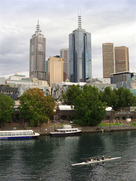 row boat melbourne photo of yarra river rowing free australian stock images