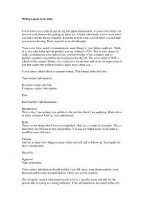 Strong Cover Letters by Write A Strong Cover Letter