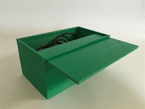 3d printed resistor storage 3d printable storage box with sliding lid by trevor day enterprise xd design