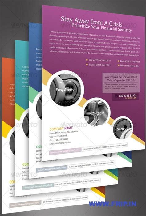 designs brochure sles 40 best corporate business flyers print templates frip