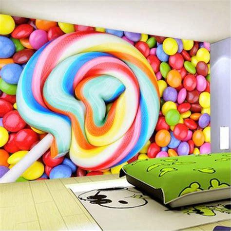 colorful lollipop smarties wallpaper  kids room candy