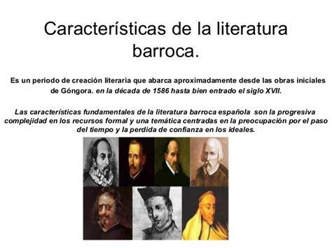 imagenes literarias de la poesia caracter 237 sticas de la literatura barroca