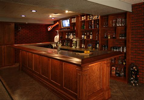 oak creek lower level bar wooden thumb remodeling wooden