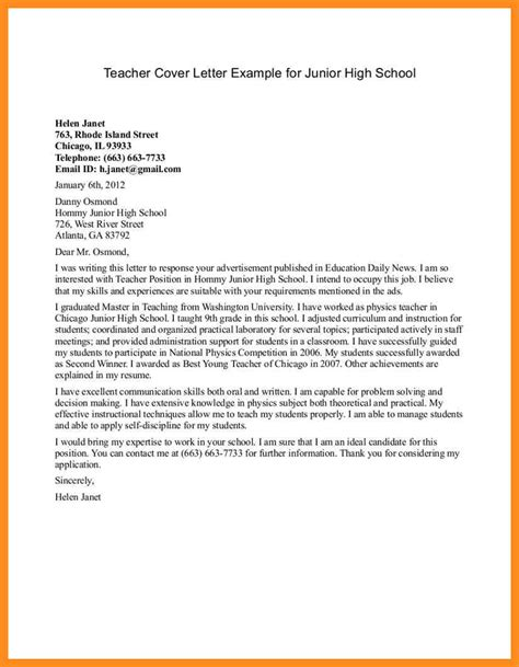 Business Letter Template For Middle School Students 6 School Application Letter Mystock Clerk