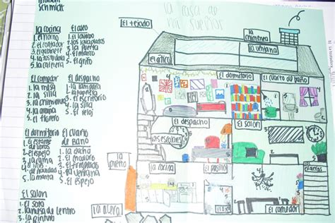 my house in spanish page 50 la casa de mis suenos my dream house picture page 51 house labeling packet page