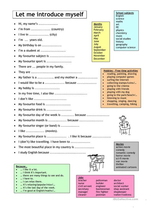 Esl Introducing Yourself Worksheet by 34464 Free Esl Worksheets For Elementary A1 Level