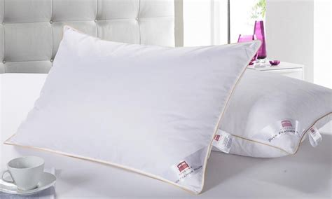 Bantal Duck gold piped duck feather pillows groupon goods