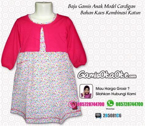 Piyama Katun Anak Balita P035 A baju muslim anak perempuan bahan kaos harga murah dan