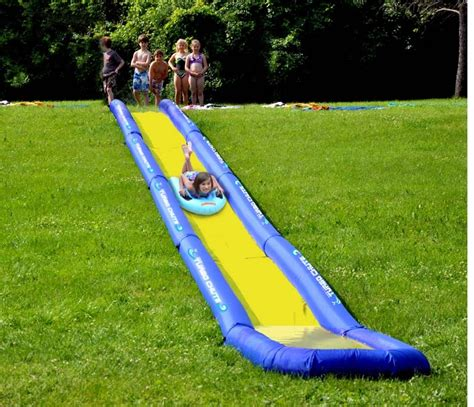 inflatable backyard water slides new rave sports 02471 inflatable turbo chute water slide