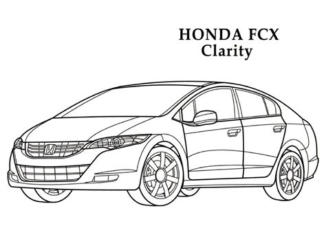 coloring pages honda cars honda fcx clarity cars coloring pages kids coloring