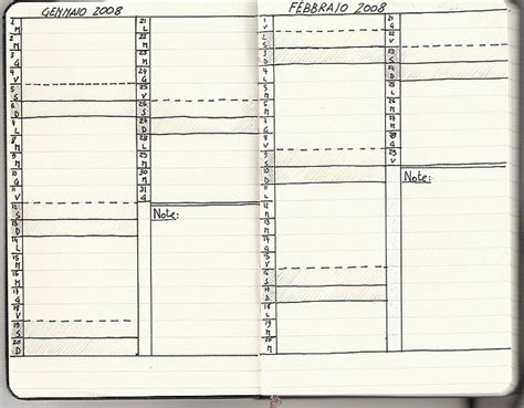moleskine calendar template diy moleskine monthly calendar journal it