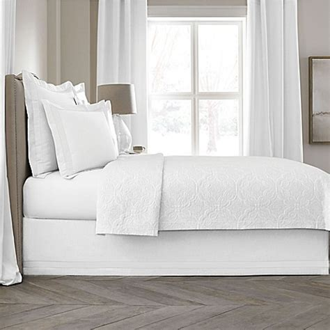 king bed skirt buy wamsutta collection 174 linen cotton blend 18 inch