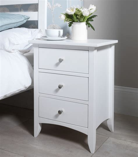 inexpensive bedside tables furniture the carrington drawer nightstand ivory white