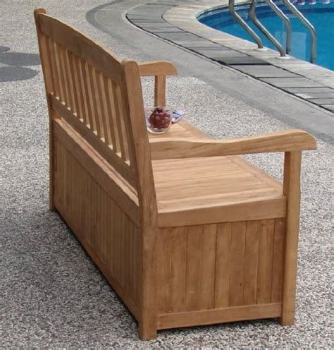 outdoor bench with storage diy outdoor wood storage bench quick woodworking projects
