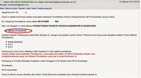 email bpjs kesehatan pengalaman mendaftar bpjs mandiri online dan penggunaannya