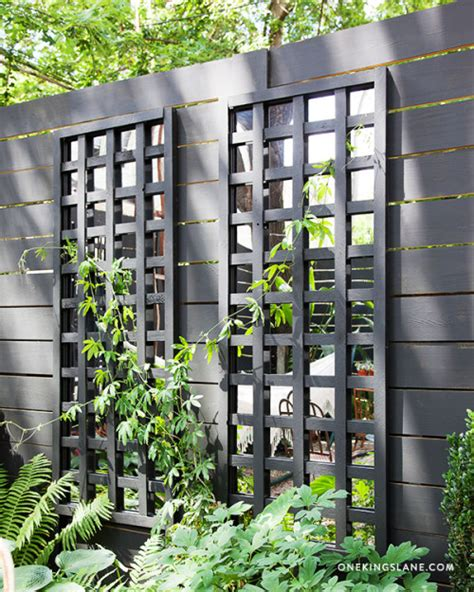 Diy Mirrored Trellis Design Sponge Garden Wall Mirrors