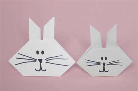 Easy Rabbit Origami - origami bunny family crafts