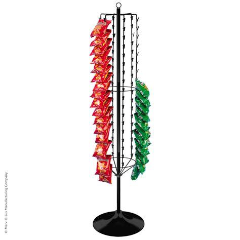 108 clip snack food floor spinner rack