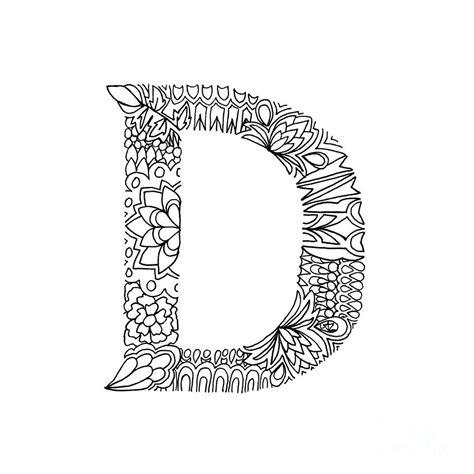 Patterned Letter D Drawing by Alyssa Zeldenrust