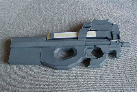 paper craft gun new paper craft size fn p90 pdw ver 2 free paper