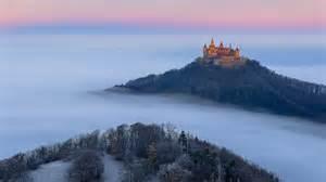 Alemania, Castillo Hohenzollern, Otoo, Niebla, Rboles Fondos De
