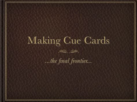 cue cards template writing cue cards