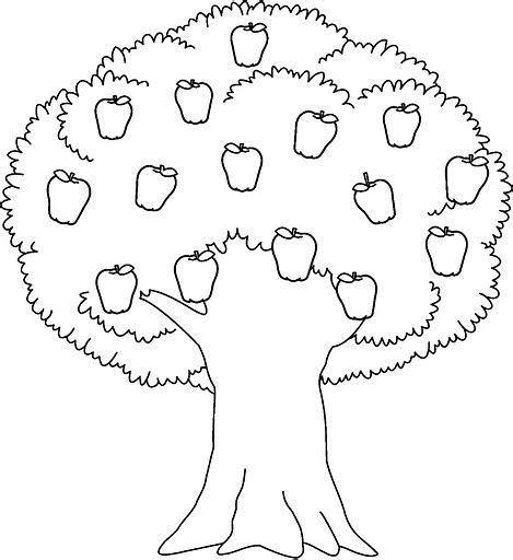 coloring pages apple tree printable apple tree coloring sheet for kids shapes and