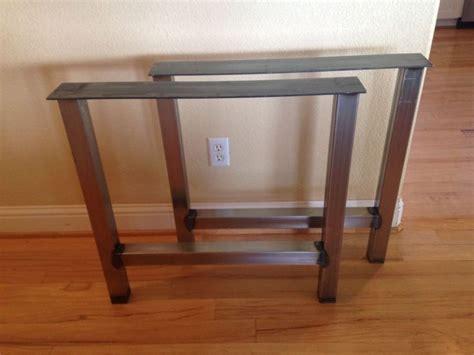 diy brass table legs pair 2 metal h frame table legs diy steel table legs