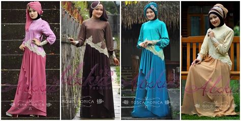 Maxi Dress Muslim Mewah Elegan Bahan Ceruty Warna Dusty Fit Xl busana muslim koleksi terbaru