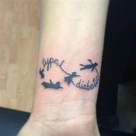 diabetes ribbon tattoo type 1 diabetic with pan tattoos
