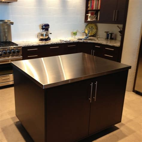 stainless steel kitchen island table stainless steel top kitchen table home design