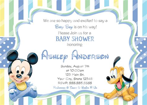 Baby Mickey Mouse Baby Shower Invitations by Baby Mickey Mouse Baby Shower Invitations And 50 Similar Items