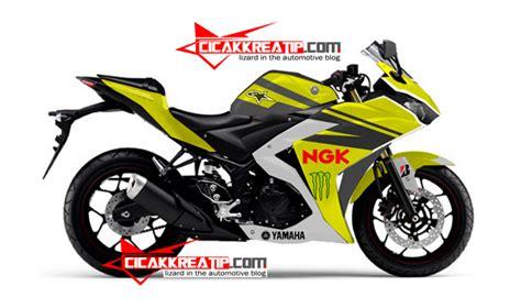 Lu Motor Vario modif yamaha r25 warna kuning kombinasi hitam lumayan d