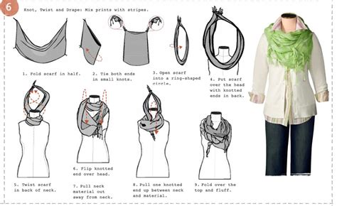 Printable Scarf Tying Guide