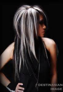 white hair with black lowlights 20 hair with blonde highlights hairstyles you must see