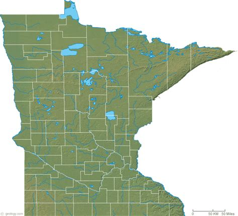 minnesota topographic map minnesota physical map and minnesota topographic map