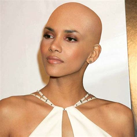 haircuts for women going bald top of head halle berry bald hairstyles shave yo head pinterest