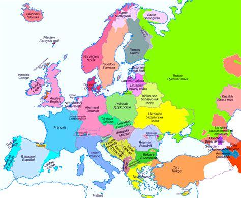 map de l europe cartes de l europe et informations sur le continent europ 233 en